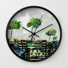 the story of green trees Wall Clock