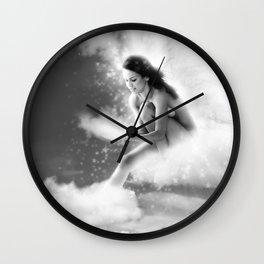 Angel, Nude Erotic Sexy Woman Naked Photo Art Print Wall Clock