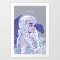 mother of dragons Art Prints featuring Mother of Dragons by Natalie Nardozza