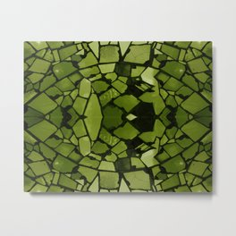 Mosaic - Fern Green Metal Print
