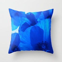 Blue Poppies #decor #society6 #buyart Throw Pillow