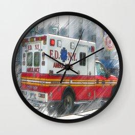 NYFD Paramedic Wall Clock
