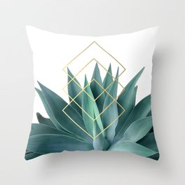 Agave geometrics Throw Pillow