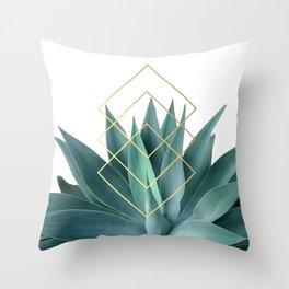 Agave geometrics Throw Pillow