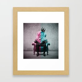 The King Lion Framed Art Print