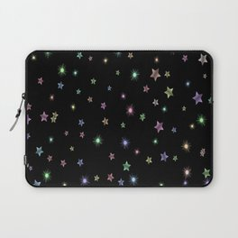 Colored Sparkling Stars Laptop Sleeve