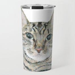 The portrait of the cat Travel Mug