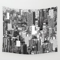 metropolis Wall Tapestries featuring Lost in Metropolis by LIGA KITCHEN