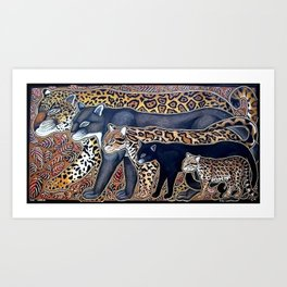 Big cats of Costa Rica Art Print