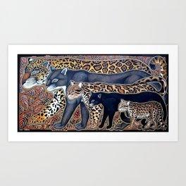 Big cats of Costa Rica Art Print