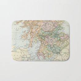 South Scotland Vintage Map Bath Mat