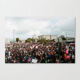 Women's Trump Protest - Oakland Canvas Print