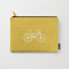 Yellow Bike by Friztin Carry-All Pouch