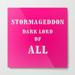 Doctor Who: Stormageddon Dark Lord of All Metal Print