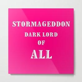 Doctor Who: Stormageddon Dark Lord of All Metal Print