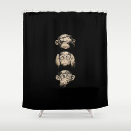 3 wise monkeys Shower Curtain