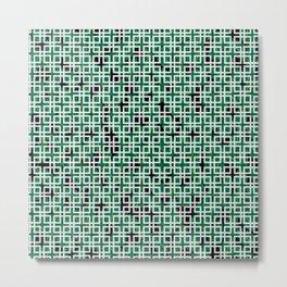 Square Leaves Metal Print