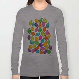 We Were Just Babies When We Were Born colorful pattern peaceful illustration ink painting abstract Long Sleeve T-shirt