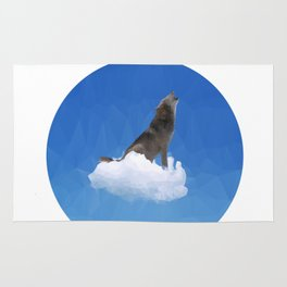 Wolf In The Clouds Rug