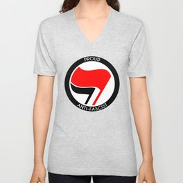 Proud Antifascist Unisex V-Neck