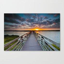 Bolsa Chica Wetlands Sunrise  6/18/14 Canvas Print