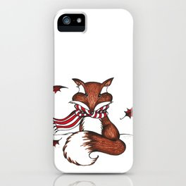 Holiday Fox iPhone Case