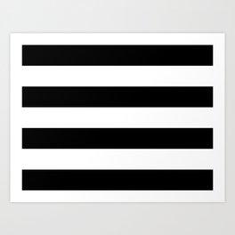 Black and White Large Stripes Art Print