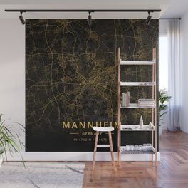 Mannheim, Germany - Gold Wall Mural