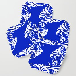 Damask Blue and White Coaster