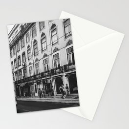 Streets of Lisbon, Portugal | Black and white famous yellow tram | Photography travel art | Art Print Stationery Cards