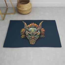 Killmonger Tribal Mask Rug
