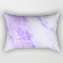 Shimmery Violet Purple Marble Metallic Rectangular Pillow