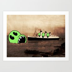 H.M.S. LUNCH. Art Print