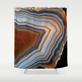 Layered agate geode 3163 Shower Curtain