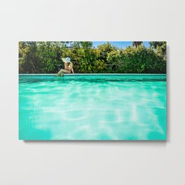 Summer Days at the Pool Metal Print