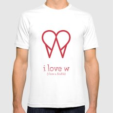 I Love W White Mens Fitted Tee MEDIUM