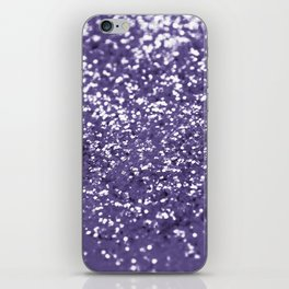 Sparkling ULTRA VIOLET Lady Glitter #1 #shiny #decor #art #society6 iPhone Skin