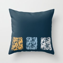 Blue with Squares Throw Pillow
