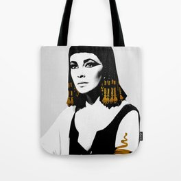 black & gold Cleo Tote Bag