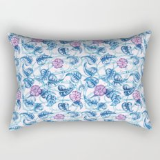 Ipomea Flower_ Morning Glory Floral Pattern Rectangular Pillow