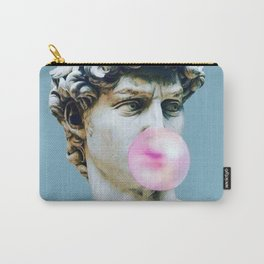 The Statue of David (Michelangelo) with Bubblegum Carry-All Pouch