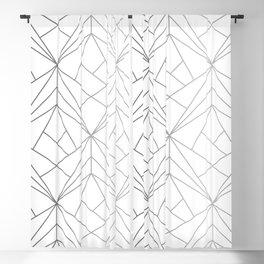 Geometric Silver Pattern Blackout Curtain
