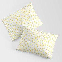 Yellow Lines Pillow Sham