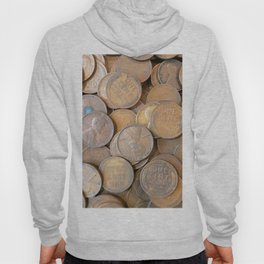 Watercolor Coins, Lincoln Wheat Pennies, 1934 01 Hoody