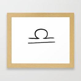 Libra Grit Framed Art Print