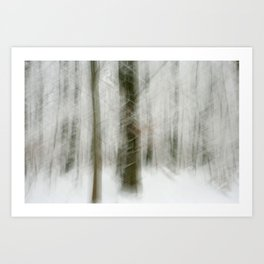 Frosty Woods Art Print