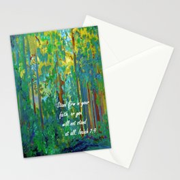 Stand Firm in Your Faith Stationery Cards