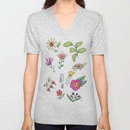 Flower Study 1 Unisex V-Neck