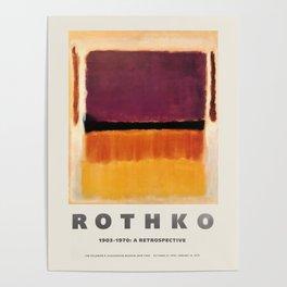 Mark Rothko - Exhibition poster for the Guggenheim Museum, New York, 1970 Poster