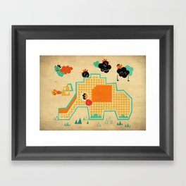 Elephant Playground Framed Art Print